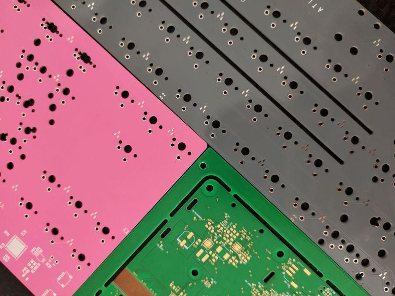 Nowe kolory soldermaski w PCBWay - różowy, szary, pomarańczowy i przezroczysty