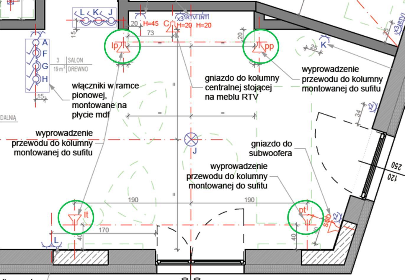 Jaki zestaw nag�o�nienia z satelitami na suficie (kina domowego)?