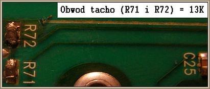 Pralka Bosch WOR20152PL - Wartości rezystorów na wejściu TACHO