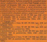 Transit 2,5D - odpalanie po paru latach
