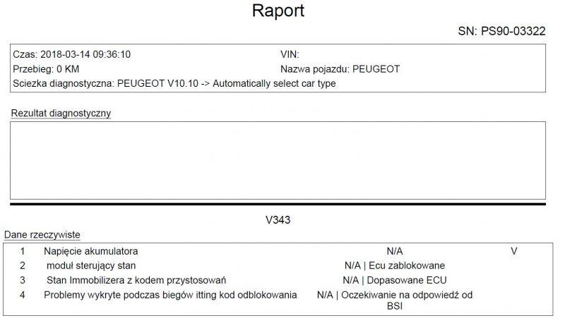 peugeot 206 1.4 8v 75km - zablokowane ecu, nie pali - brak iskry