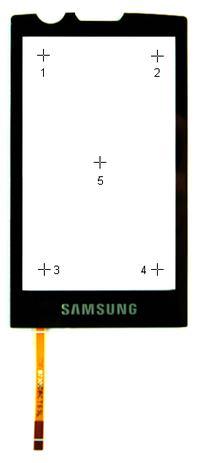 Samsung Omnia Lite GT-B7300 - Dotyk działa, ale obsługuje tylko połowę ekranu.