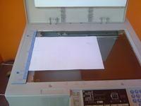 RICOH FT 4615 - Połowa kartki biała, połowa czarna