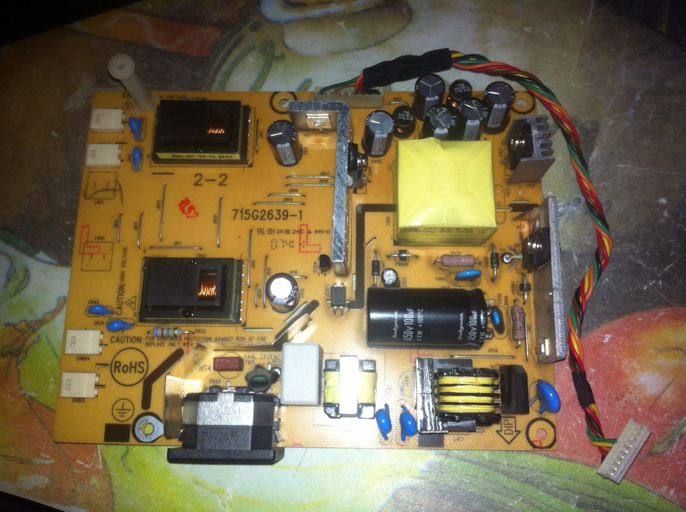 NEC LCD 22wv - Spalone 2 uk�ady na p�ycie g��wnej Monitora