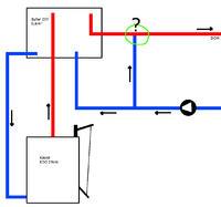 KDO 25kW - Sterowanie temperaturą wody CO - mieszacz