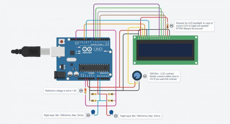 Analizator widma audio na Arduino