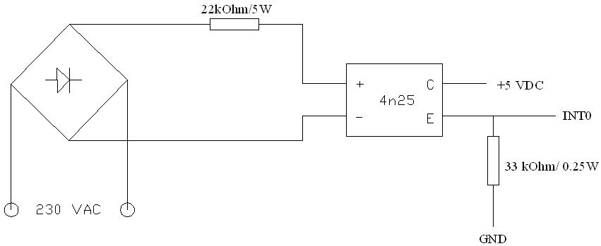 detektor zera na transoptorze 4n25