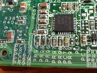 HP TX2000 - po zalaniu, brak elementu na płycie głównej