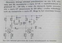 Generator kwarcowy 77,5KHz.