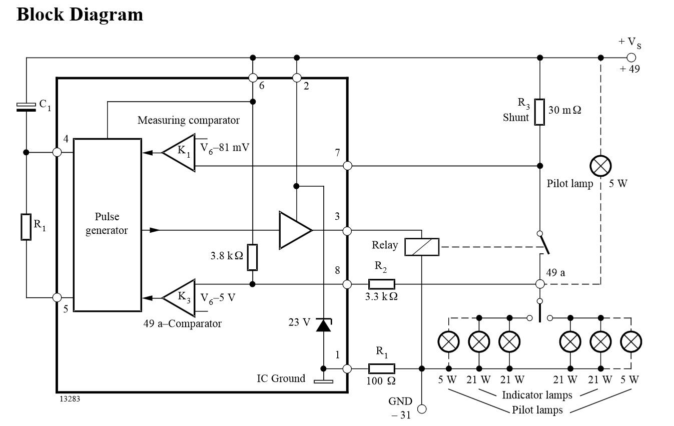 P-MOSFET jako klucz prostok�ta (na wej�ciu) za przerywaczem
