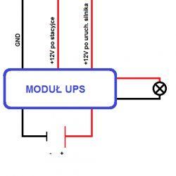 Moduł UPS do samochodu - zasilanie urządzenia po wyjściu z auta