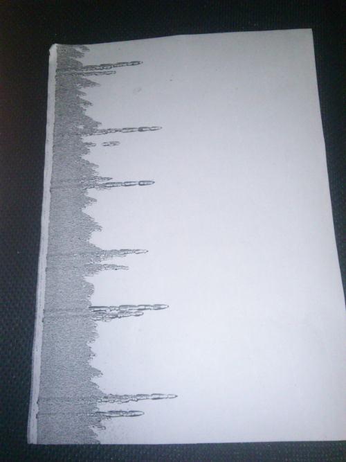 HP LaserJet 4100 - Brudna cz�� strony