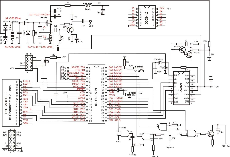 Synteza LM7001+ Attiny/Atmega - W jaki spos�b mikrokontroler ma sterowa� syntez�
