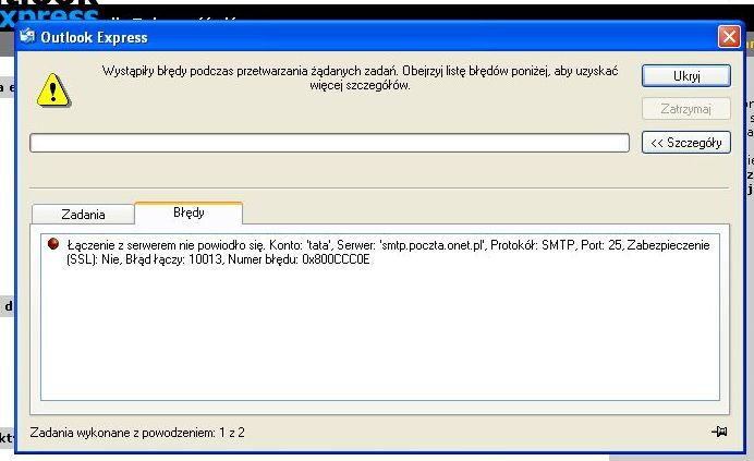 Outlook Express, nie odbiera wiadomo�ci.