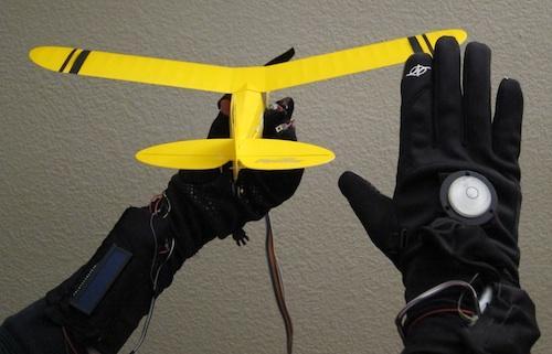 R�kawiczka do sterowania modelem samolotu RC