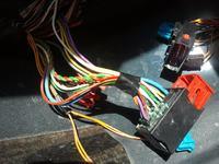 Peugeot 406 - schemat z��cza wi�zki magistrali kablowej pod spoczynkiem D9
