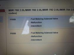 vauxhall vivaro 2.0 cdti 2010 - Delphi kod bledu P0089 uzkodzony zawor regulacji