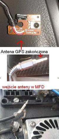 radio navigation system MFD - Jak pod��czy� na kr�tko anten� GPS