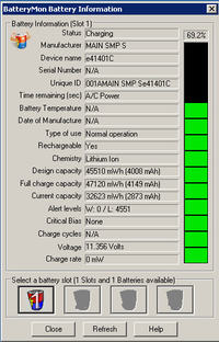 Fujitsu Esprimo Mobile V6515 - powolne ładowanie baterii
