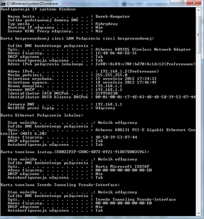WIFI - utrata po��czenia z sieci� kiedy inny laptop si� po��cza