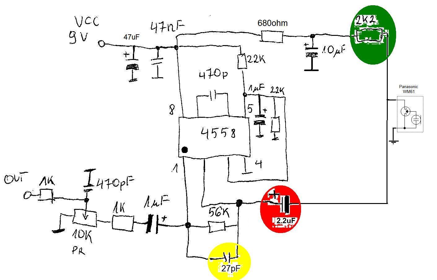 Albrecht NM500E(CB-MASTER NM500E) pro�ba o schemat mikrofonu