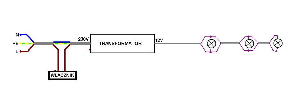 pod u0142 u0105czenie 3  u017car u00f3wek led poprzez transformator 12v