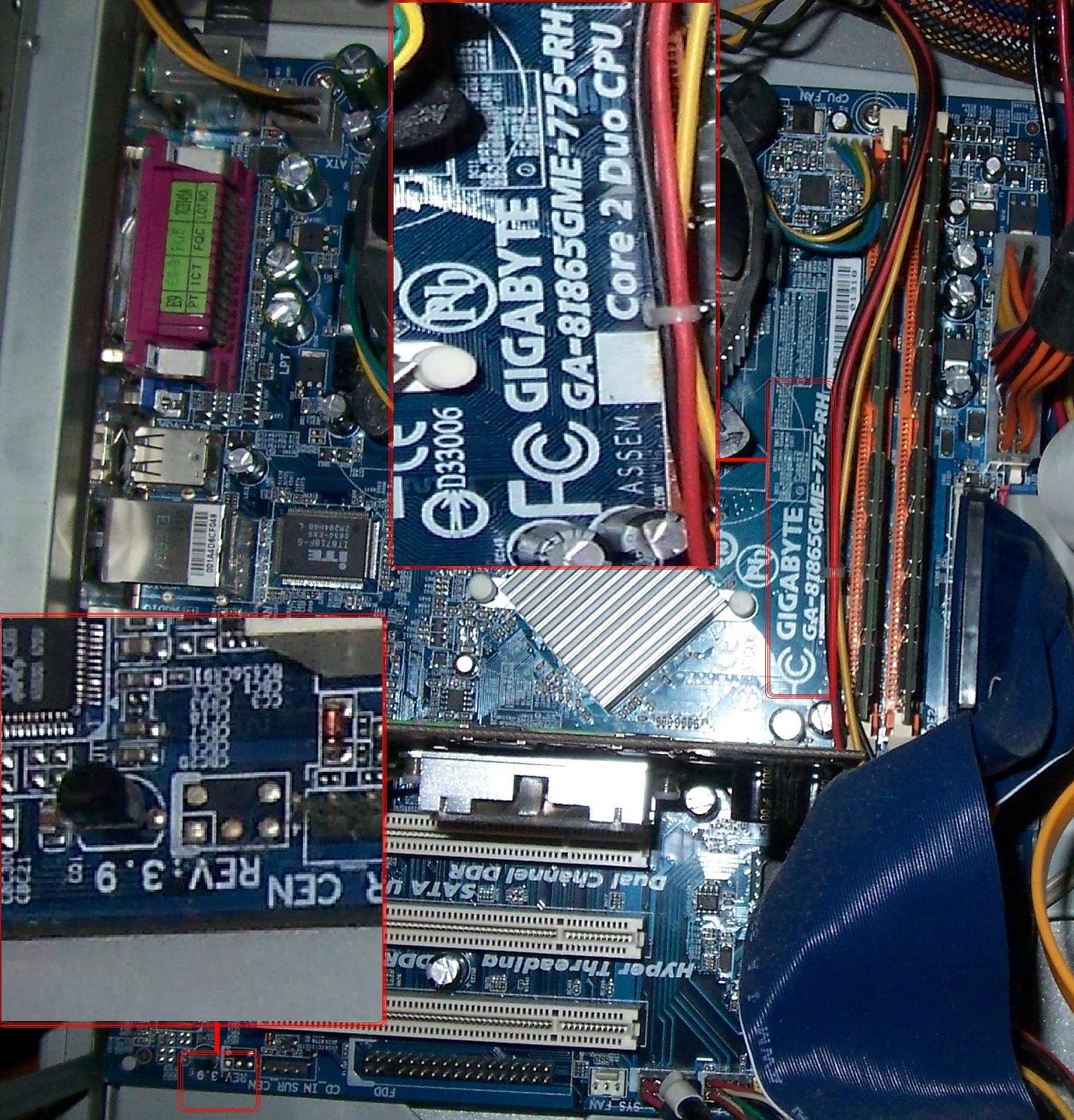 """Ga-8i865gme-775-rh .... rozbudowa """" komputera do internetu """""""