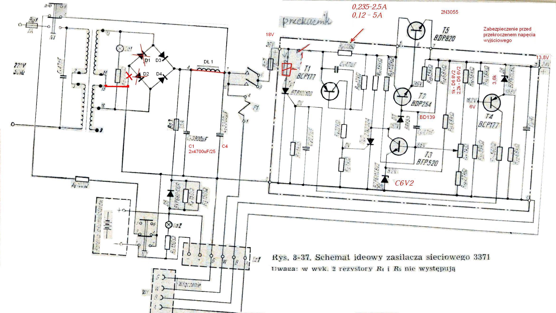 Naprawa i przer�bka zasilacza Rodmor3371/1