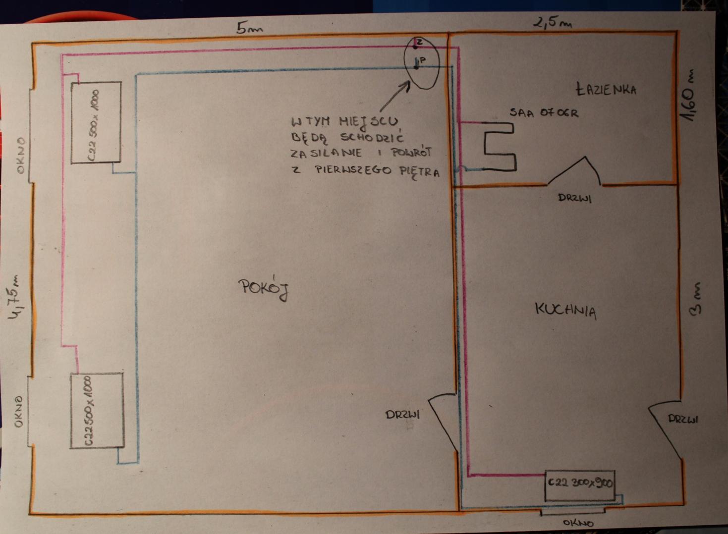 Weryfikacja instalacji co uk�ad rur, �rednice i pompa