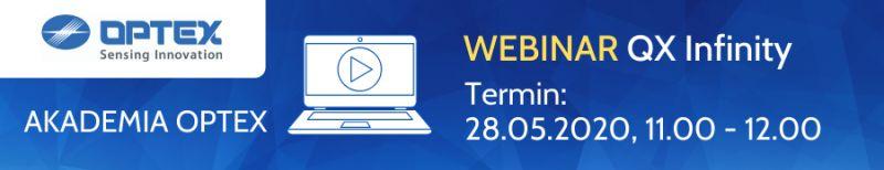 Webinar QX Infinity - Akademia Optex, 28.05.2020. Zarejestruj się