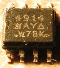 HP Pavilion dv9700 (dv9705ea) MOSFET w przetwornicy