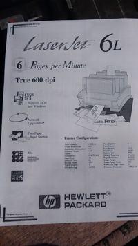 HP Laser Jet 6L - Brudzi papier