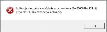 błąd 0xc00007b