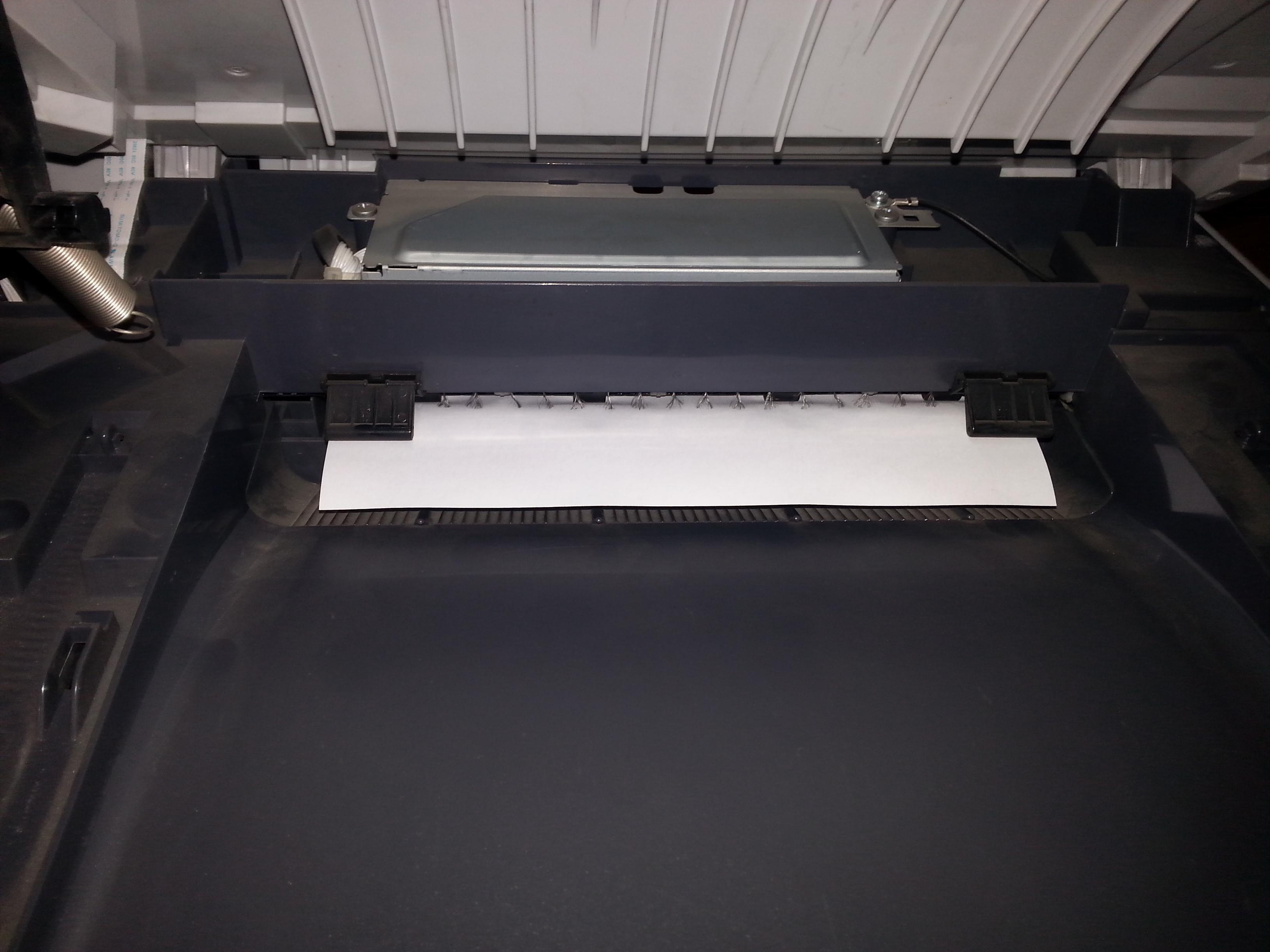 Brother 7820N - zator papieru na wyj�ciu, zwija papier