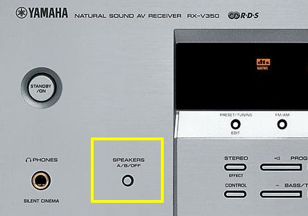 Yamaha RX-V350 - Brak dźwięku z głośników front i centralnego