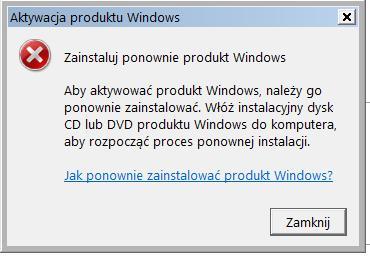 windows vista home premium x32 - problem z aktywacją
