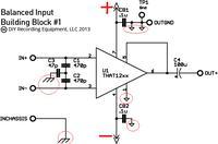 Wzmacniacz z wejściem niesymetrycznym i mikser z wyjściem symetrycznym