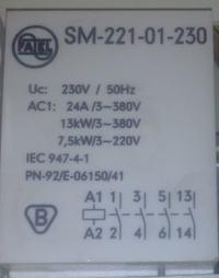 zamiennik do stycznika fael sm 221-01-230