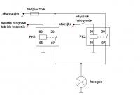 Hyundai Galloper - Podłączenie halogenów w sposób dwutorowy.