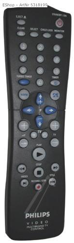 Tryb Hotelowy VCR Philips VR-260