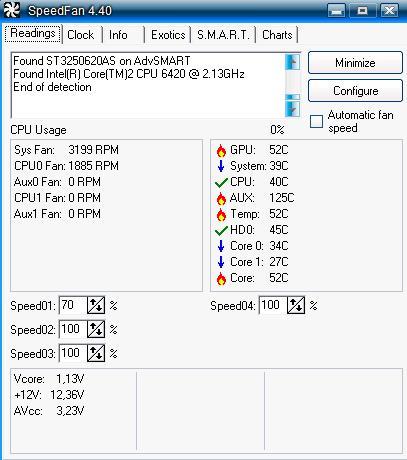 Jak uzależnić obroty FAN1 od temp grafiki?