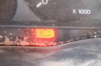 FORD TRANSIT 1994 Nie dodaje gazu czerwona kontrolka, Awaria