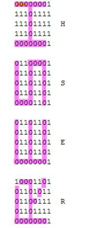 Wyświetlacz widmowy - Zmiana zawartego w kodzie napisu/obrazu, język c