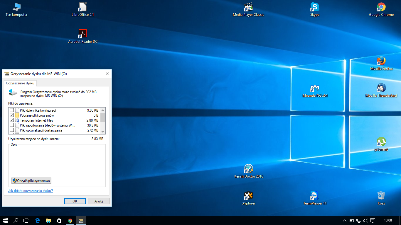 Systemowe Oczyszczanie Dysku Windows Dodatkowe Opcje