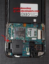 Samsung I9000 Galaxy S - Samsung Galaxy S oderwany styk łączący z anteną GPS