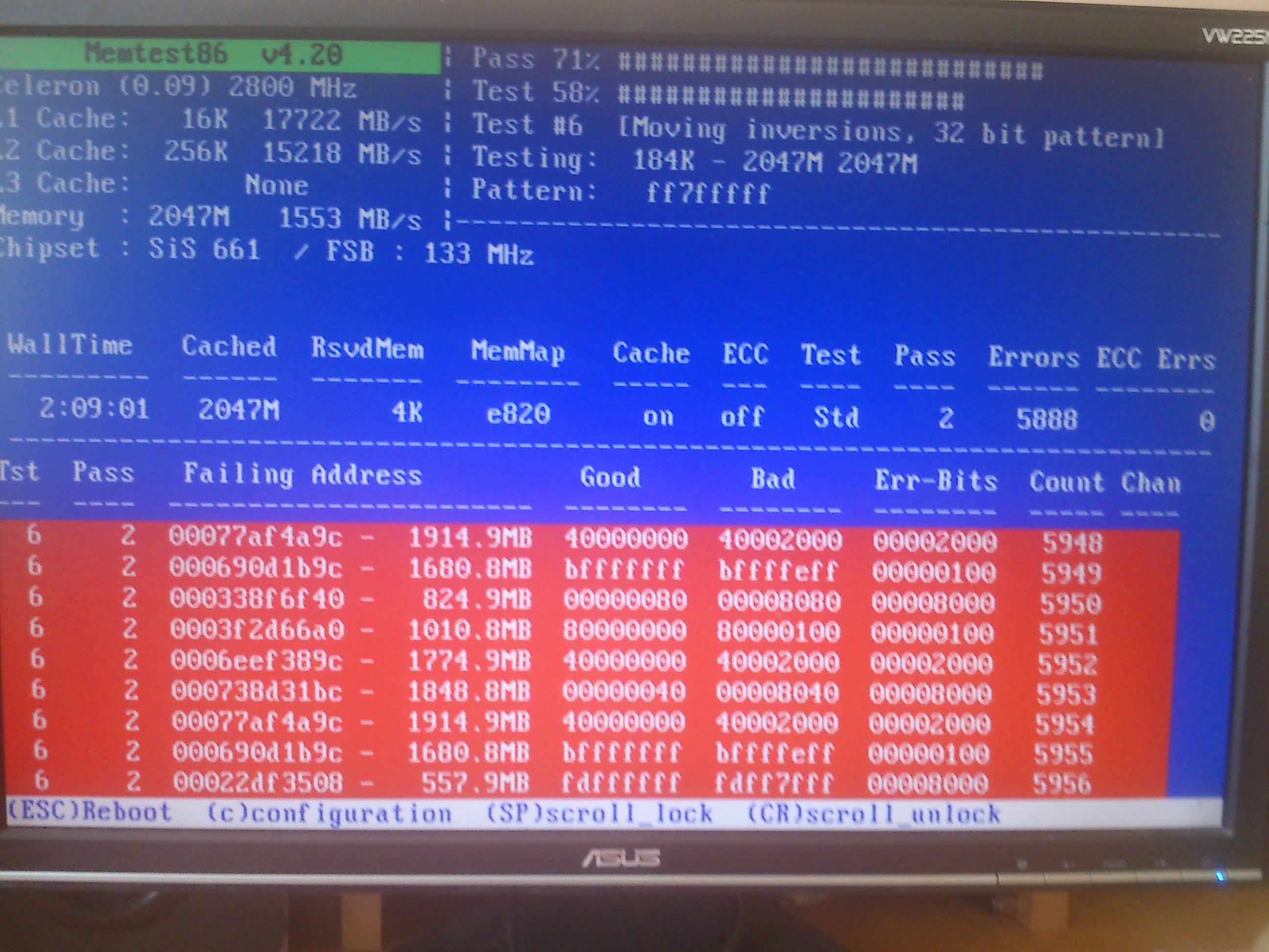 Prawdopodobnie uszkodzona pami�� RAM