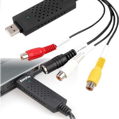 Jak i jakim przewodem podłączyć kamerę CCD(monitoring) do laptopa?