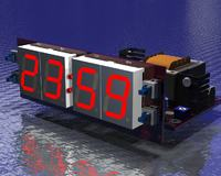 Woltomierz samochodowy ze wskaźnikiem naładowania oraz termometrem.