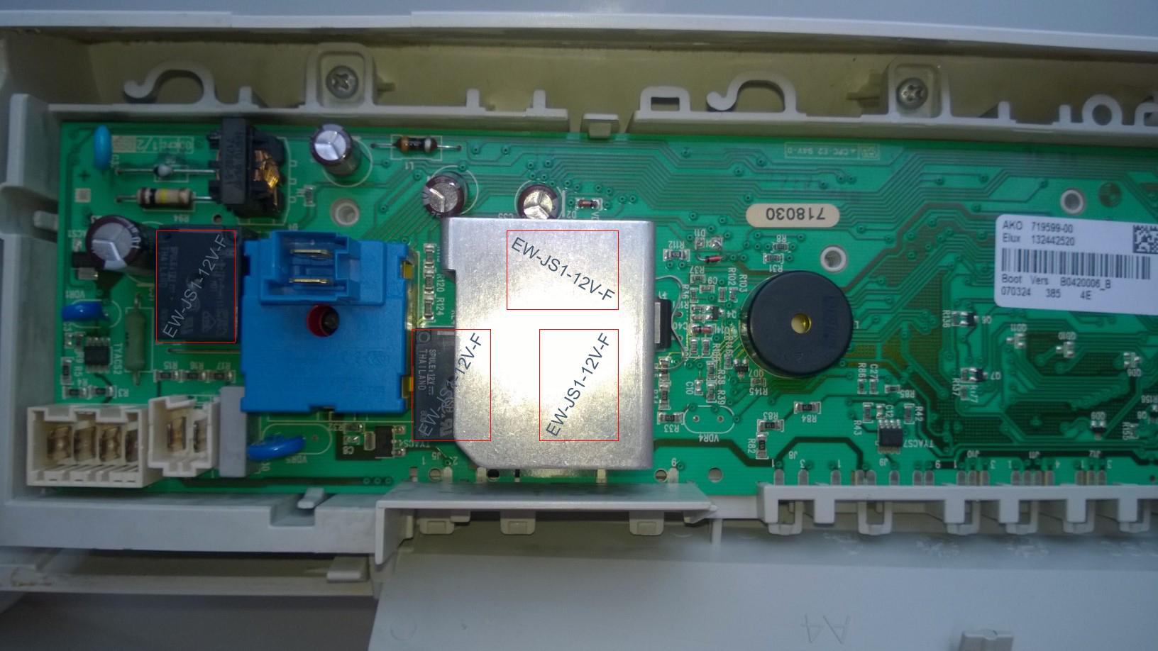 Electrolux EWF 10470W - Brak napi�cia na grza�ce, nie odwirowuje, nie pierze