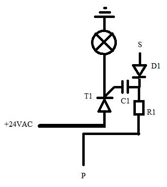 Podłączenie bramki tyrystora przez kondensator...